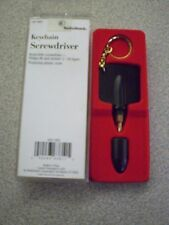 radioshack keychain screwdriver w/ reversible philips 0 and slotted 1/8 bit