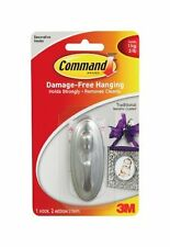 Command Plastic Hook with Metallic Finish, Traditional, Medium