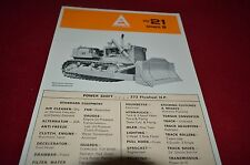 Allis Chalmers HD-21 Series B Crawler Tractor Dealers Brochure YABE11 VER91