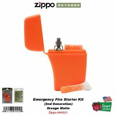 Zippo Emergency Fire Starter Kit, w/ 4 Tinder Stick, 2nd Gen., Orange #44021