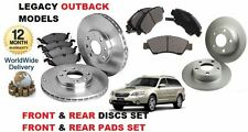 FOR SUBARU LEGACY 2.5 OUTBACK 2003-12/2009 FRONT&REAR BRAKE DISCS SET & PADS KIT