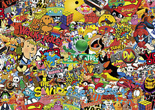 80's Colour Stickerbomb sheet-x1 - 1m X 300 Mm (euro/drift/jdm / cartoon/vw)