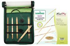 KnitPro BAMBOO Starter Set, Art. 22541, auswechselbare Bambus Stricknadeln