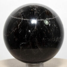 "2.1"" Natural Morion Dark Black Smoky Quartz Sphere Crystal Mineral Stone Ball"
