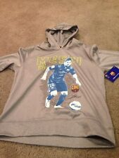 FC Barcelona Messi Youth Large Polyester Hoodie Hoody Sweatshirt. Brand New.