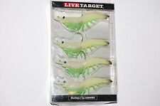 "koppers live target soft bait glow shrimp 3"" 1/4oz redfish sea trout stripers"