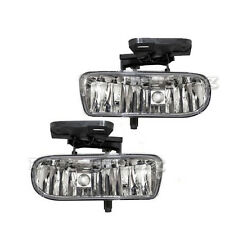 99-02 GMC Sierra / 00-06 Yukon Clear Bumper Fog Lights Set Left  Right GM095