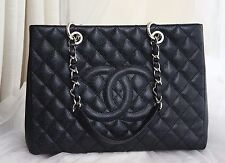 VERIFIED Auth Unworn Chanel Black Caviar Leather GST Grand Shopping Tote Bag