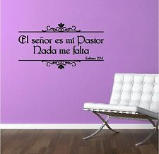 Wall Decal. Inspirational Wall Decal. Christian Home Decor. Biblia. Salmos 23:1