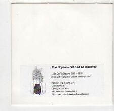 (FQ407) Rue Royals, Set Out To Discover - 2013 DJ CD