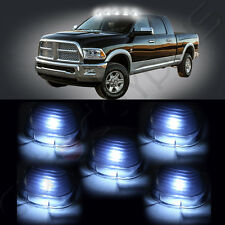5x Smoke Lens Marker Running Lamps Cover case + Free Bulbs For Ford Super Duty
