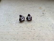 Emoji Poop Poo Earrings Studs Handmade Cute Pile Of Poo Gift