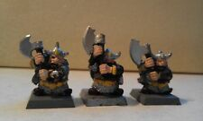 WARHAMMER-3x BUGMAN'S DWARF RANGERS TROOPER-PART PAINTED-DWARFS-DWARVES