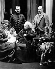 New 11x14 Photo: Queen Victoria with Future King Edward VII & Tsar Nicholas II