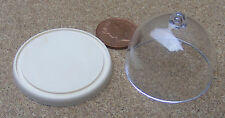 1:12 Scale Plastic Cake Stand & Cover Dolls House Miniature Food Accessory SA
