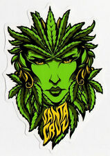 Santa Cruz Weed Goddess Skate Sticker skunk cannabis marijuana skate snow surf