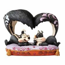 Official Looney Tunes Jim Shore Pepe Le Pew and Penelope 'Hello Cherie' Figurine