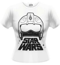 Star Wars The Force Awakens X-Wing Fighter Helmet T-Shirt Femme Woman Taille M