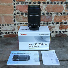 Canon EF-S 55-250mm F/4-5.6 IS II Telephoto Image Stabilisation Zoom Lens Boxed