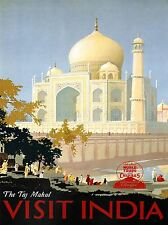 TRAVEL CANADIAN PACIFIC TAJ MAHAL INDIA CANADA VINTAGE ADVERT POSTER 2341PYLV
