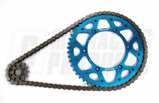 Yamaha YZ 125 99 - 01 RK 520 Chain & Supersprox Aluminium Sprocket Kit Blue