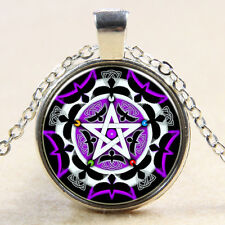 Witchcraft Pentacle Celtic Knot Pentagram Art Pendant Wiccan Necklace Chain 232