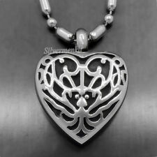 Butterfly Pattern Heart Love Cremation  Memorial Urn Stainless Steel Pendant