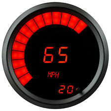 "Intellitronix Digital/Bargraph Memory SPEEDOMETER 3 3/8"" RED LEDs Black Bezel US"