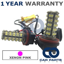 2X CANBUS PINK H11 60 SMD LED FOG LIGHT BULBS FOR AUDI A1 A4 A5 A6 A8 Q3 Q5 TT