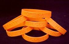 IMPERFECT Leukemia Support Orange Silicone Bracelets Lot of 12 Cancer Awareness