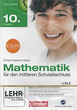 CD-ROM + Lernsoftware + Mathematik 10. Klasse + Einfach bessere Noten +