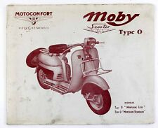 Catalogue vers 1965  MOTOCONFORT - SCOOTER MOBY Type 0