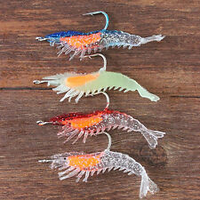 New 1PC Realistic Simulation Prawn Lure Hook Tackle Bait Fishing Lures CTY