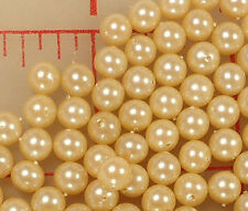 288 Gorgeous Vintage Glass Pearls  Made in Japan  6mm Beads