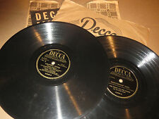 78RPM 2 Bing Crosby Decca, Heart Hobo, Whiffenpoof, Country Style, Kentucky VV+