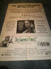 THE EMERALD FOREST(1985)DIR:JOHN BOORMAN ORIG 1SHEET+