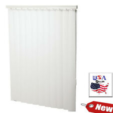 "66 x 96 White 3-1/2"" Vertical Blind  - Vertical Blinds Includes Matching Valance"