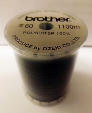 BROTHER Sewing Machine BLACK EMBROIDERY BOBBIN THREAD 1100m (METRES) - EBTCEB