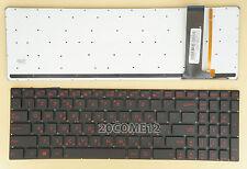NEW for ASUS G56 G56JK G56JR Keyboard Red Backlit Hebrew Israel
