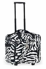 Zebra Rolling Carry On LightWeight Duffle Tote Bag Luggage Suitcase with Wheels