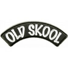 LOT OF 2 - OLD SKOOL SMALL ROCKER BIKER PATCH