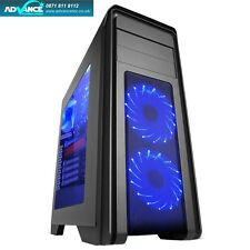 Game Max Falcon Gaming PC Case USB 3.0 2x12cm Blue 16 LED Front Fans