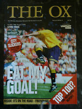 OXFORD UNITED v LUTON 18-08-1998 WORTHINGTON CUP FOOTBALL PROGRAMME