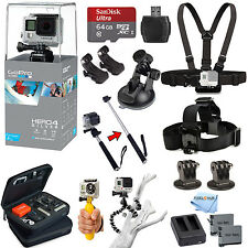 GoPro HERO4 Silver Edition All In 1 PRO Accessory KIT Bundle w/ SanDisk 64GB