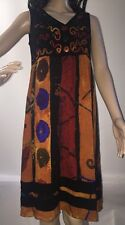 Carole Little Petite Colorful Bohemian Style Sundress Abstract Design Casual 6P