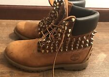 custom timberlands With Spikes And Cheetah Print Size 7.5