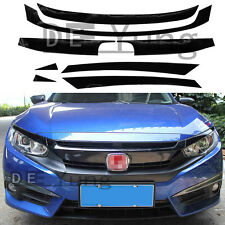 JDM RS Turbo Front Grille SticKer Decal &Extension Assy Kit for 2016 Honda Civic