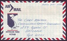 "1971 AUSTRALIAN FORCES MAIL VIETNAM - 'FPO 3"" VUNG TAU ENDORSED ""FREE MAIL"""