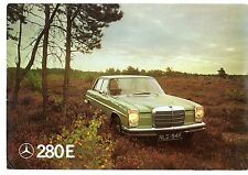 Mercedes-Benz 280E W114 Saloon 1972 UK Market Foldout Sales Brochure