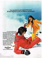 Publicité Advertising 1973 Les Vetements de ski Mossant